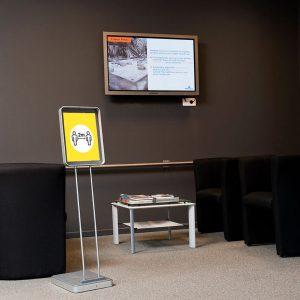 מתקן תצוגה עומד לאולם תצוגה Infostand