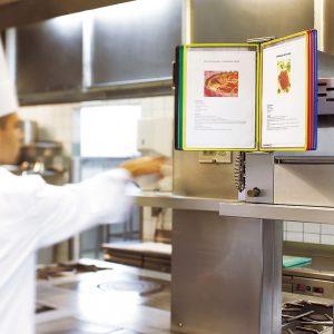 מתקן תצוגה לקיר מנירוסטה מיוחד למטבחים